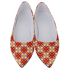 Hexagon Polygon Colorful Prismatic Women s Low Heels