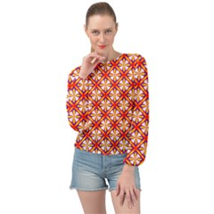Hexagon Polygon Colorful Prismatic Banded Bottom Chiffon Top by HermanTelo