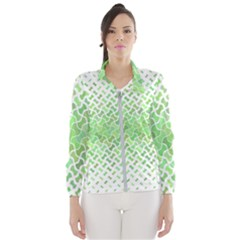 Green Pattern Curved Puzzle Women s Windbreaker