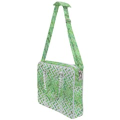 Green Pattern Curved Puzzle Cross Body Office Bag