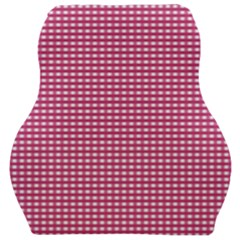 Gingham Plaid Fabric Pattern Pink Car Seat Velour Cushion