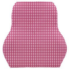 Gingham Plaid Fabric Pattern Pink Car Seat Back Cushion