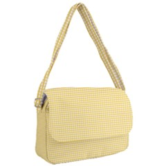 Gingham Plaid Fabric Pattern Yellow Courier Bag