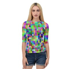 Jigsaw Puzzle Background Chromatic Quarter Sleeve Raglan Tee by HermanTelo