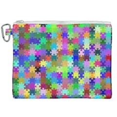 Jigsaw Puzzle Background Chromatic Canvas Cosmetic Bag (xxl)