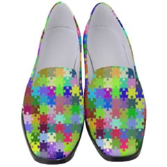 Jigsaw Puzzle Background Chromatic Women s Classic Loafer Heels