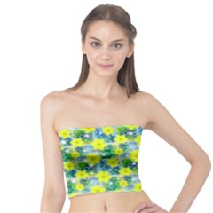 Narcissus Yellow Flowers Winter Tube Top by HermanTelo