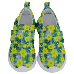 Narcissus Yellow Flowers Winter Kids  Velcro No Lace Shoes by HermanTelo