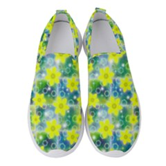 Narcissus Yellow Flowers Winter Women s Slip On Sneakers by HermanTelo