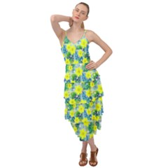 Narcissus Yellow Flowers Winter Layered Bottom Dress