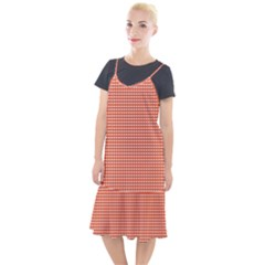 Gingham Plaid Fabric Pattern Red Camis Fishtail Dress