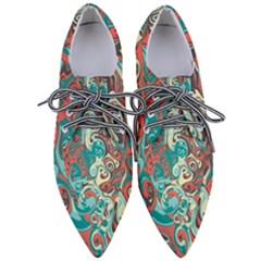 Crazy Swirls Pointed Oxford Shoes by tarastyle