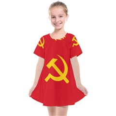 Flag Of Chinese Workers  And Peasants  Red Army, 1934 1937 Kids  Smock Dress by abbeyz71