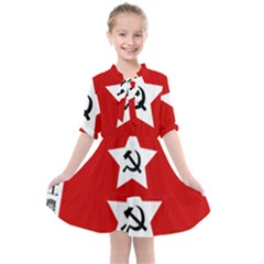 Flag Of Chinese Workers  And Peasants  Red Army, 1928 1937 Kids  All Frills Chiffon Dress by abbeyz71