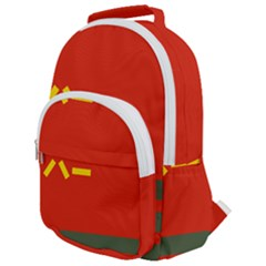 Flag Of Chinese People s Armed Police Force Rounded Multi Pocket Backpack