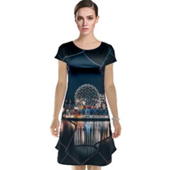 Silver Dome Cap Sleeve Nightdress