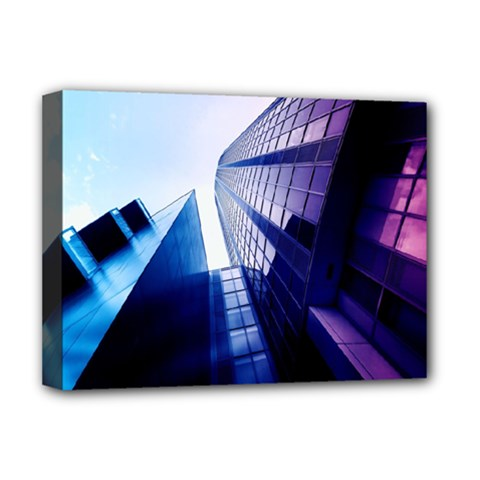Abstract Architectural Design Architecture Building Deluxe Canvas 16  X 12  (stretched)