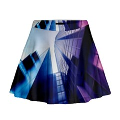 Abstract Architectural Design Architecture Building Mini Flare Skirt