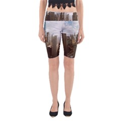 Architectural Design Architecture Buildings City Yoga Cropped Leggings