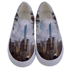 Architectural Design Architecture Buildings City Kids  Canvas Slip Ons