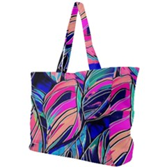 Tropical Leaves Resize 2000x2000 Same A3580b Simple Shoulder Bag by Sobalvarro