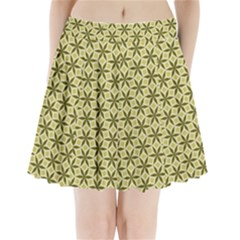Green Star Pattern Pleated Mini Skirt by Alisyart