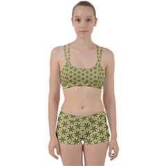 Green Star Pattern Perfect Fit Gym Set by Alisyart
