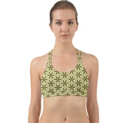 Green Star Pattern Back Web Sports Bra by Alisyart