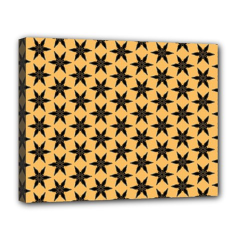 Gold Black Star Canvas 14  X 11  (stretched)