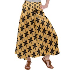Gold Black Star Satin Palazzo Pants by AnjaniArt
