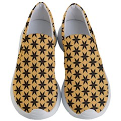 Gold Black Star Women s Lightweight Slip Ons by AnjaniArt