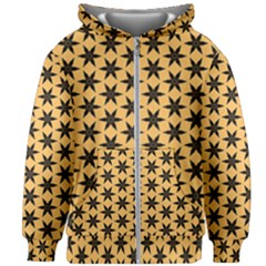 Gold Black Star Kids  Zipper Hoodie Without Drawstring