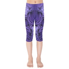 Mandala Neon Kids  Capri Leggings