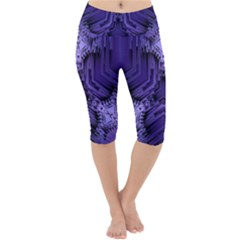 Mandala Neon Lightweight Velour Cropped Yoga Leggings by Jojostore