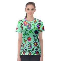 Flowers Floral Plants Women s Sport Mesh Tee by Bajindul