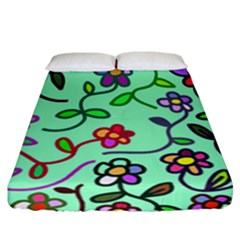 Flowers Floral Plants Fitted Sheet (california King Size) by Bajindul