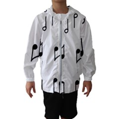 Piano Notes Music Kids  Hooded Windbreaker