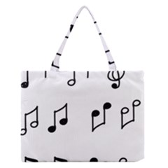 Piano Notes Music Zipper Medium Tote Bag