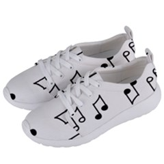 Piano Notes Music Women s Lightweight Sports Shoes by HermanTelo