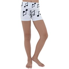 Piano Notes Music Kids  Lightweight Velour Yoga Shorts