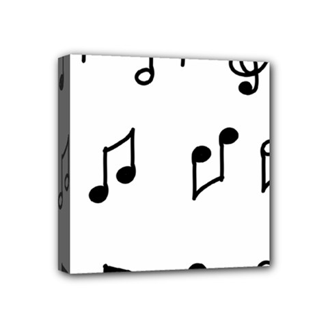 Piano Notes Music Mini Canvas 4  X 4  (stretched) by HermanTelo