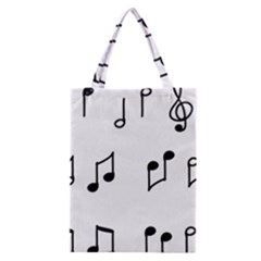 Piano Notes Music Classic Tote Bag by HermanTelo