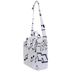 Piano Notes Music Crossbody Day Bag