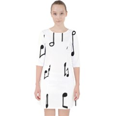 Piano Notes Music Pocket Dress