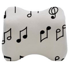 Piano Notes Music Velour Head Support Cushion