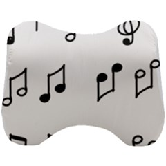 Piano Notes Music Head Support Cushion