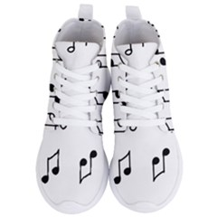 Piano Notes Music Women s Lightweight High Top Sneakers