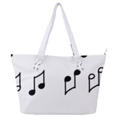 Piano Notes Music Full Print Shoulder Bag by HermanTelo
