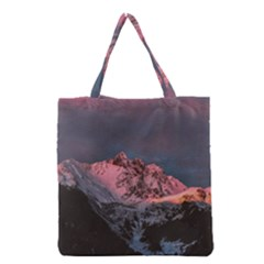 Snowy Summit Grocery Tote Bag by Pakrebo