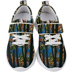 Silhouette Of Trees Kids  Velcro Strap Shoes